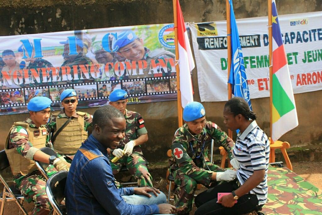 Peringati HUT Ke 72 RI, Pasukan Satgas Kizi TNI Konga Gelar Kegiatan Kemanusiaan