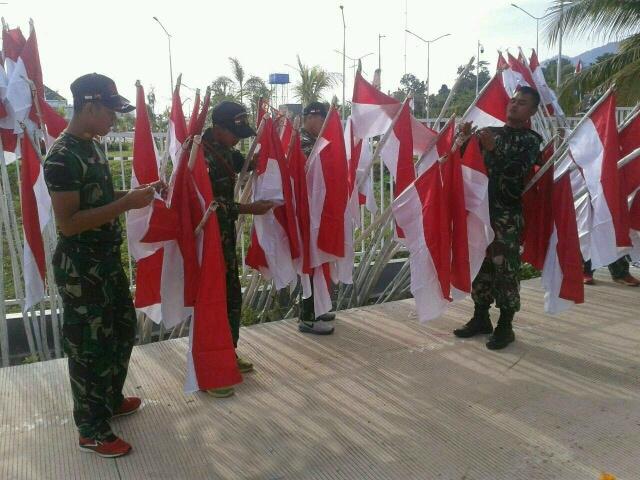 Peringati HUT RI, 2000 Bendera Merah Putih Berkibar di Perbatasan Papua-PNG