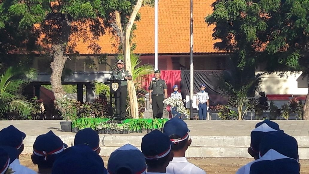 Pangdam IX/Udayana Sebagai Irup di SMA Negeri Bali Mandara