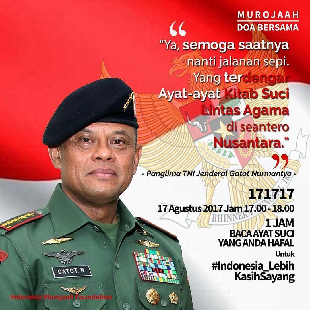 Mabesad Gelar Doa Bersama 17.17.17. Untuk Indonesia Lebih Kasih Sayang