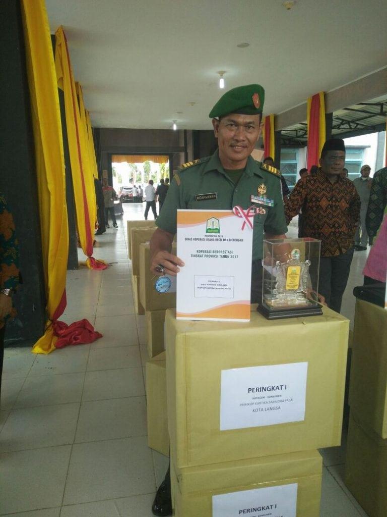 Koperasi Kodim Aceh Timur Terbaik Se-Provinsi Aceh