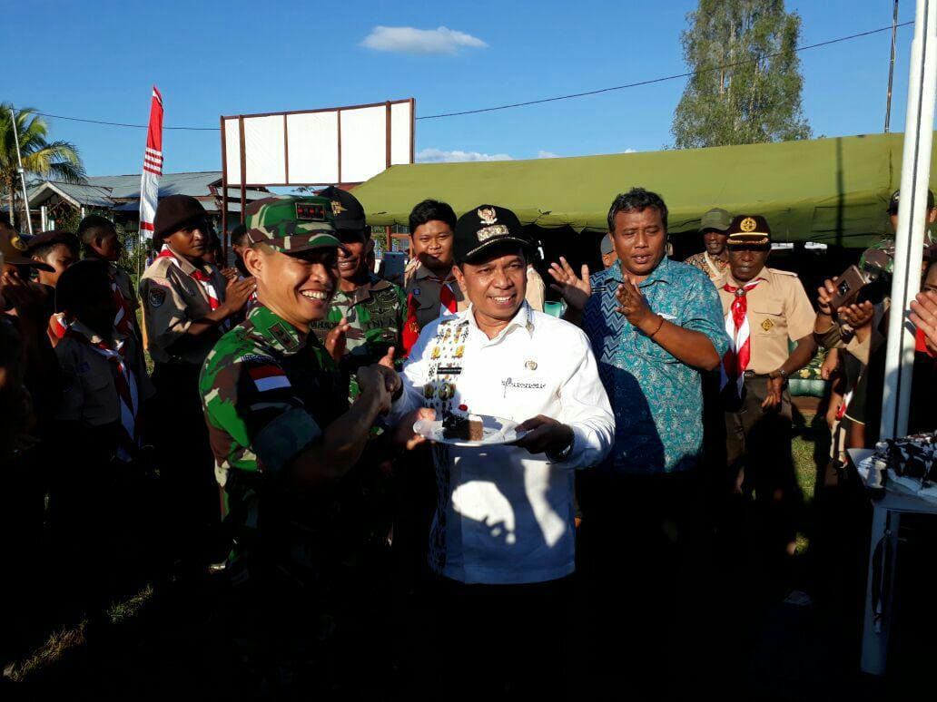 Satgas TNI Gelar Perkemahan Saka Wira Kartika Untuk Pelajar Keerom