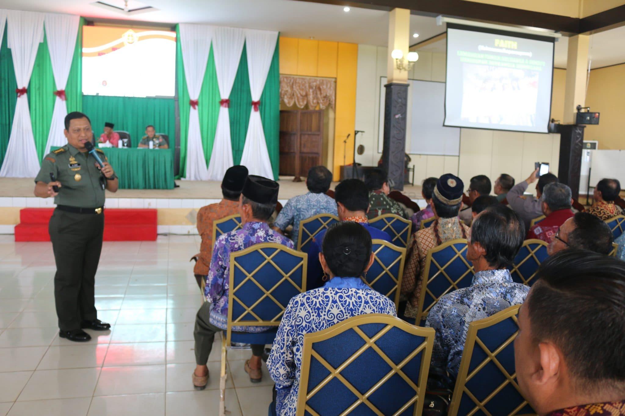 Melalui Komsos, TNI Ajak Masyarakat Kaltim Perkuat Ketahanan Nasional