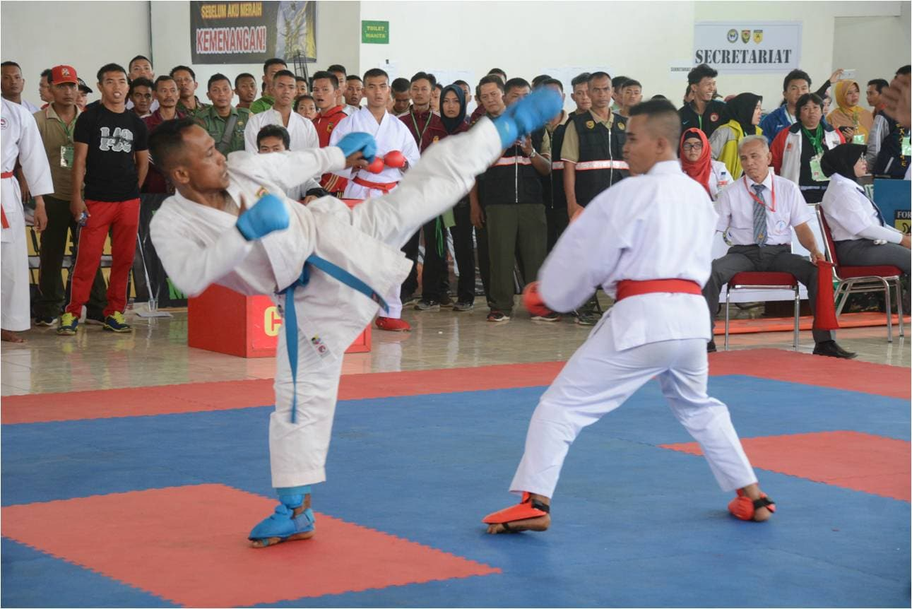 Kodam II/ Sriwijaya Gelar Open Tournament Karate 2017