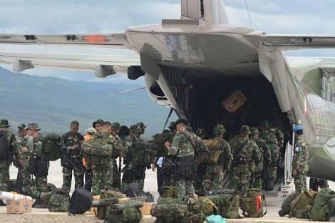 Pesawat CN-295 Dan Hercules C-130 Bawa Pulang Satgas RI-Malaysia