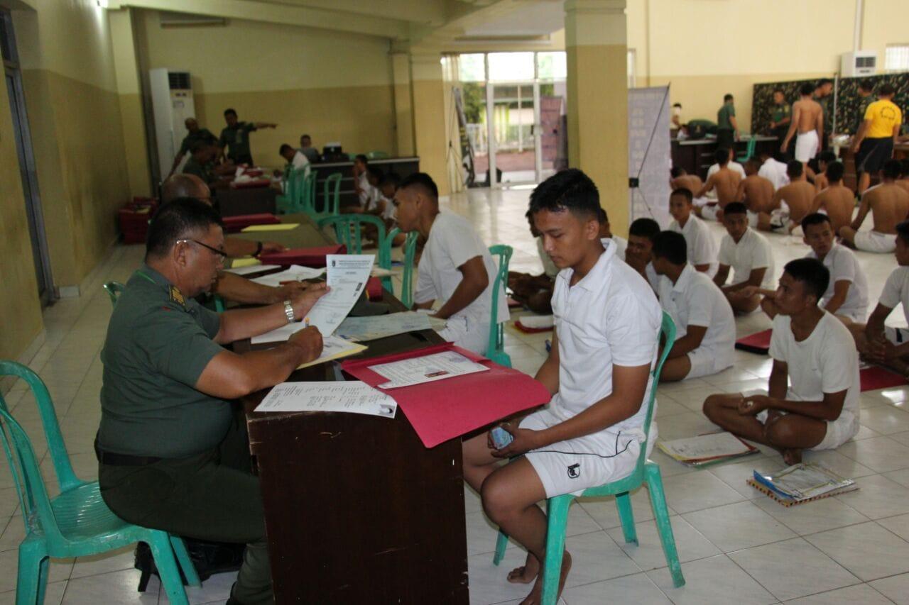 1.210 Pemuda Sumsel Bersaing Menjadi Calon Tamtama TNI AD.