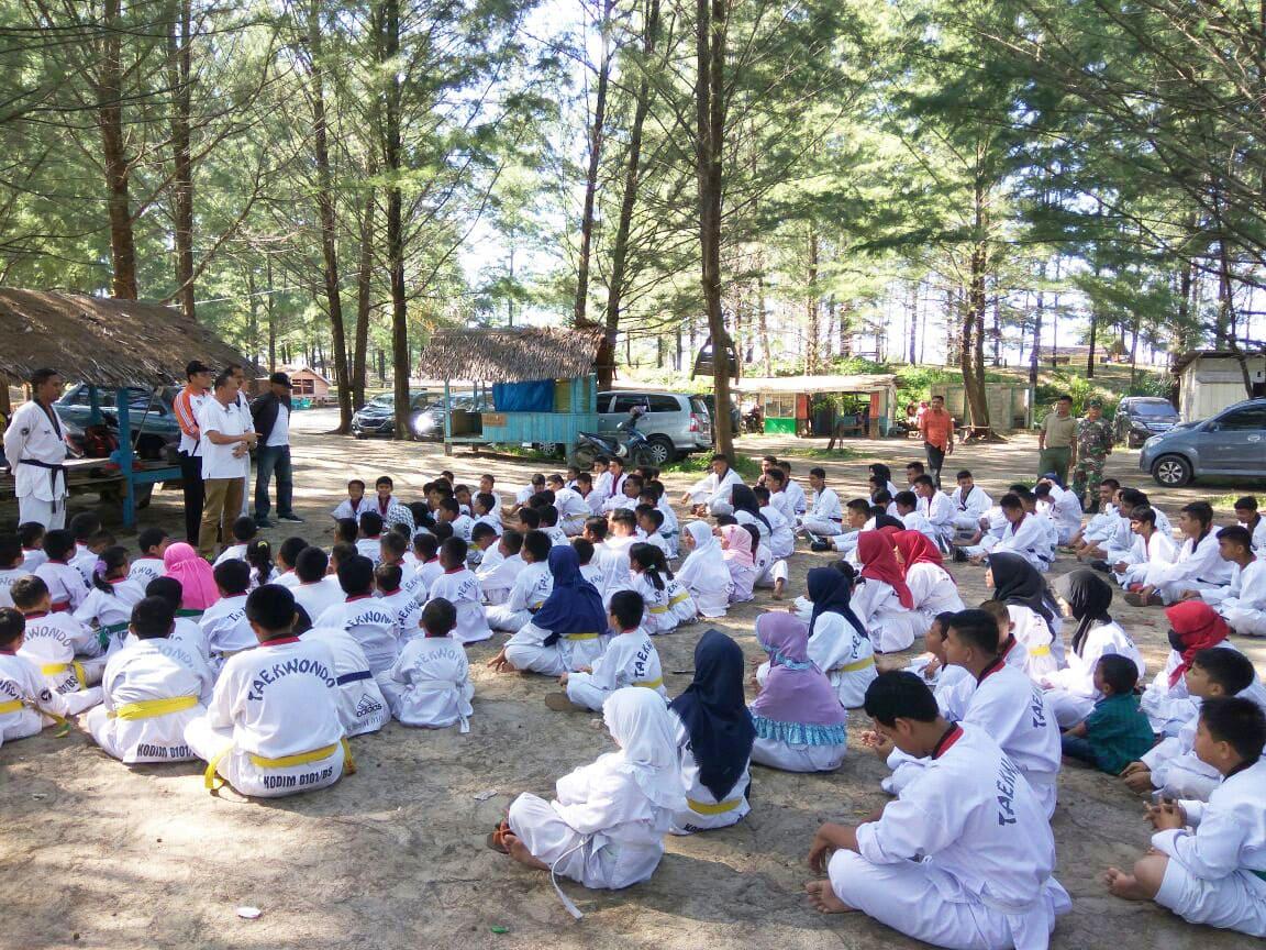 Bertekad Lahirkan Atlet Taekwondo, Kodim Aceh Gelar Uji Kenaikan Sabuk