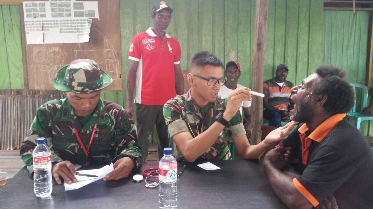 Tim Ekspedisi NKRI Gelar Pelayanan Kesehatan Gratis di Kabupaten Asmat