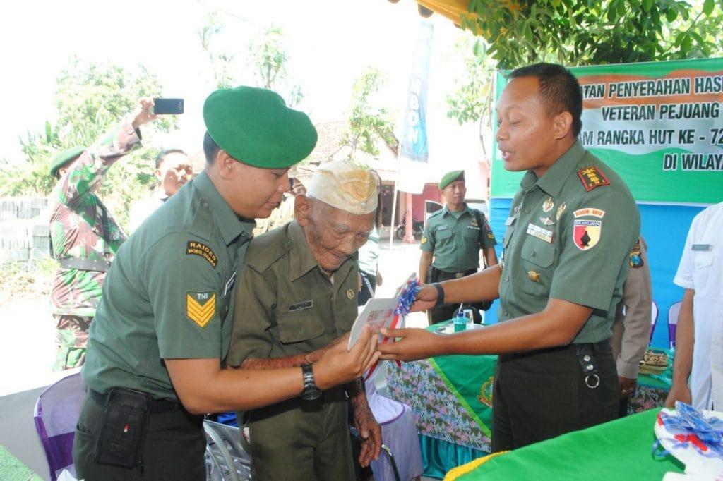Kodim 0810/Nganjuk Rehab Rumah Veteran Pejuang Kemerdekaan