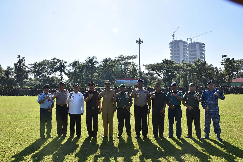 TNI-Polri dan Pemprov Sumut Unjuk Soliditas Dengan Menggelar Apel Gabungan