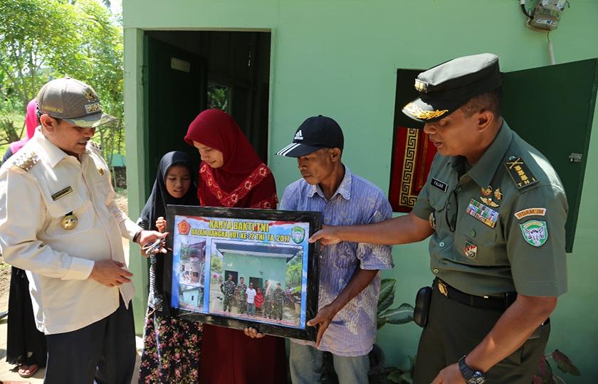 HUT ke-72 TNI, Kodim 0101/BS Gelar Karya Bakti