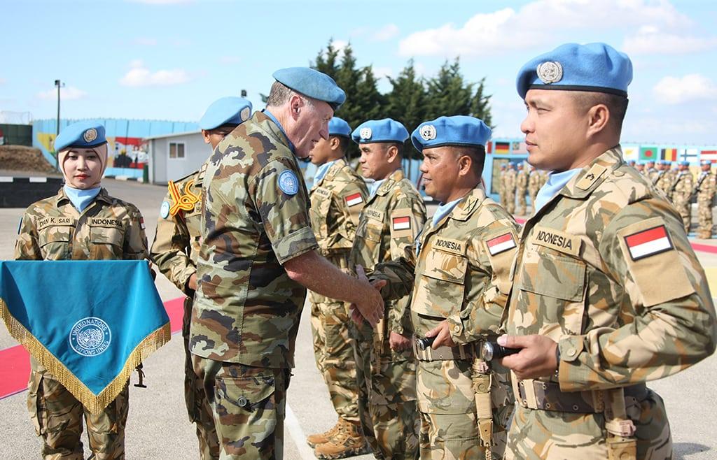 UN Medal Parade Kontingen Garuda UNIFIL 2017