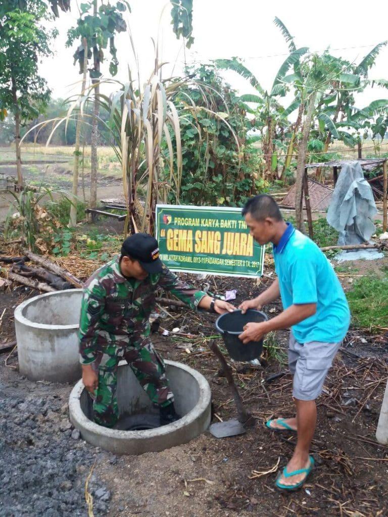 415 Unit Jamban Dibangun TNI Bagi Warga Kurang Mampu