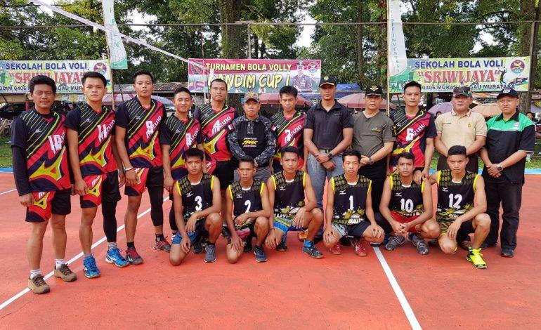 57 Tim Bertanding di Turnamen Bola Voli Dandim Cup I Lubuklinggau