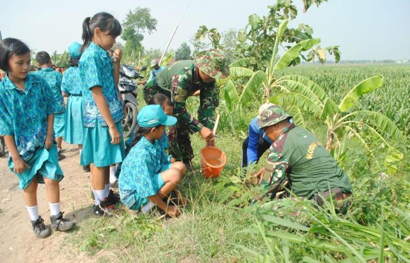 Koramil 0810/07 Patianrowo Gandeng Dinas Kehutanan Laksanakan Penghijauan