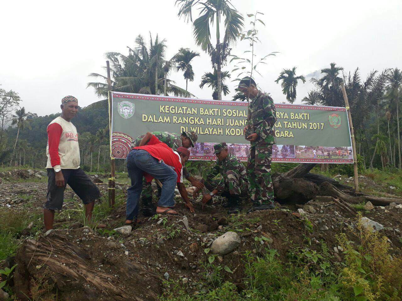 Peringati HJK, Kodim Agara Adakan Penghijauan 235 Pohon.