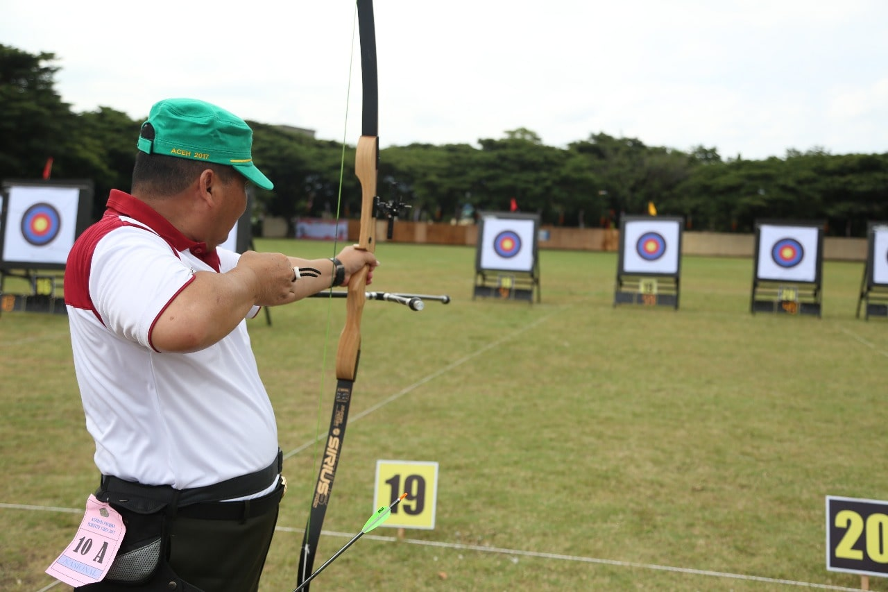 Pangdam IM Raih Juara II Pada Kejurnas Eksibisi Panahan Eksekutif