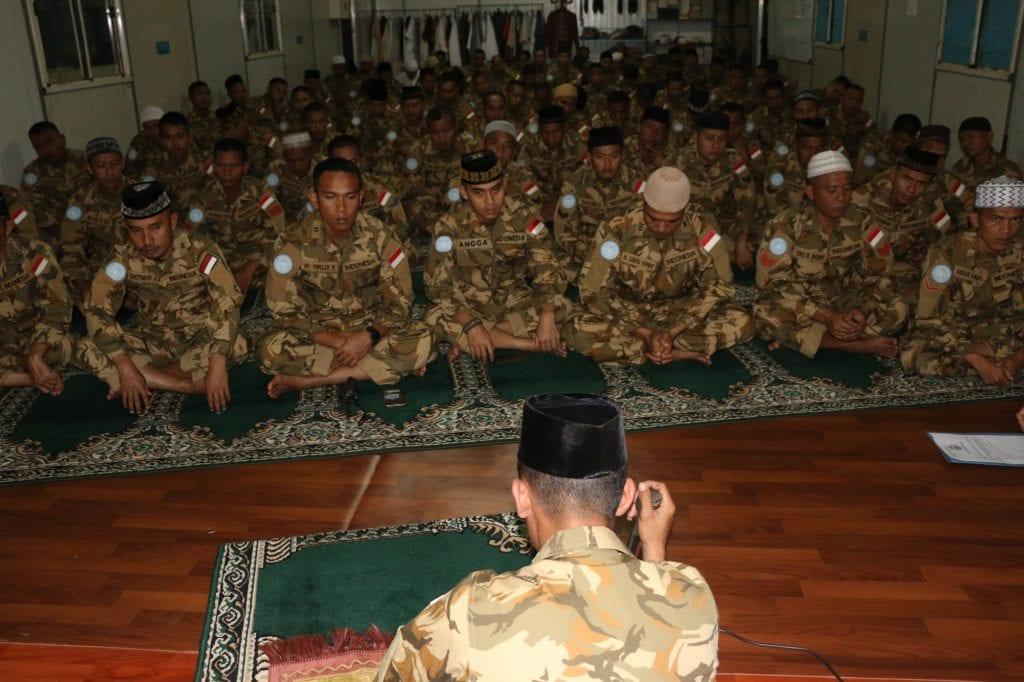 Pasukan Garuda Peringati Maulid Nabi Muhammad SAW di Afrika