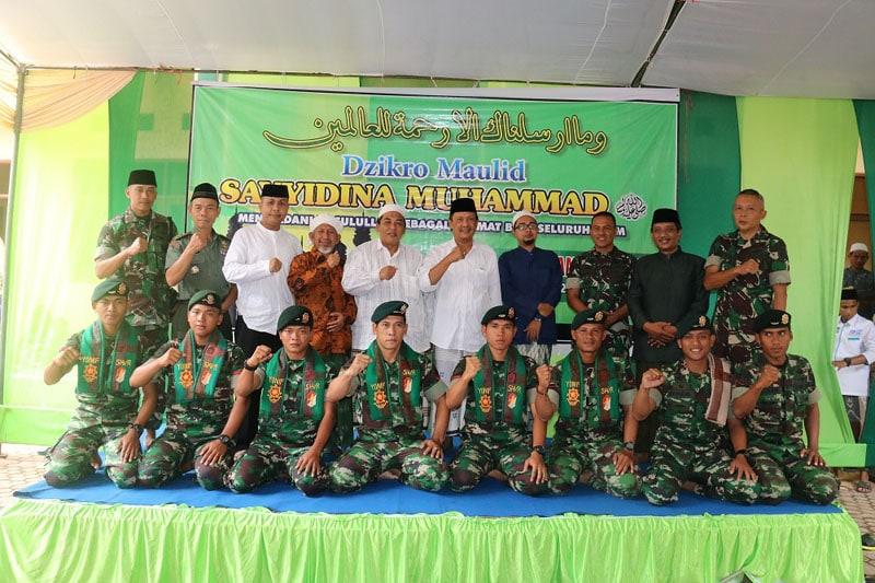 Prajurit Kostrad Peringati Maulid Nabi Muhammad SAW 1439/H di Ponpes