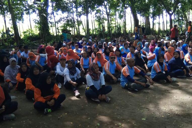 Gebyar Outbond Kader WPA Bersama Kodim Kediri
