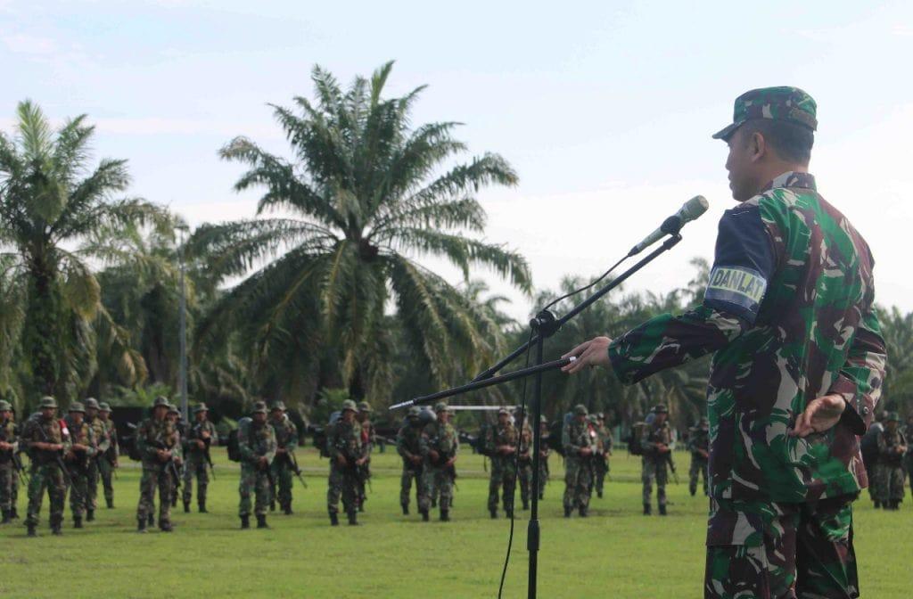 Danrem 011/Lilawangsa Menutup Latihan Pemantapan Raider.