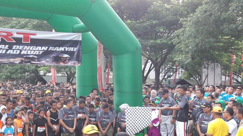 Prajurit Yonif PR 328 Kostrad Raih Prestasi Lomba Lari Jayakarta 10 K