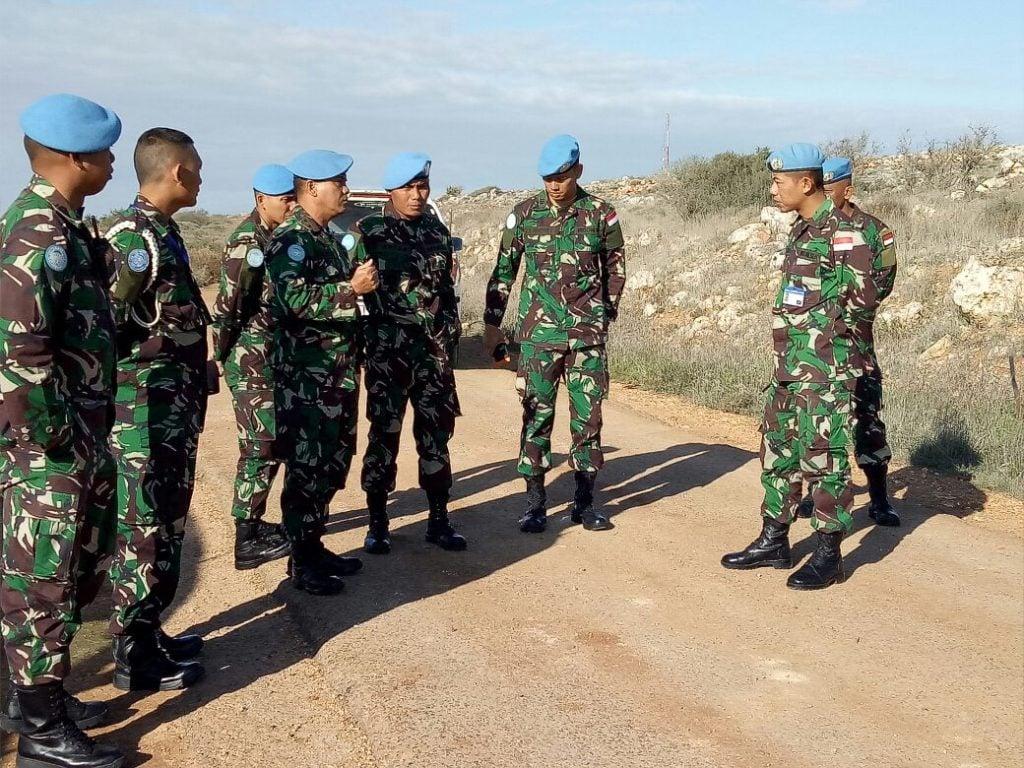 Komandan Satgas Indobatt Konga XXIII-L/Unifil Kunjungi Blue Line.