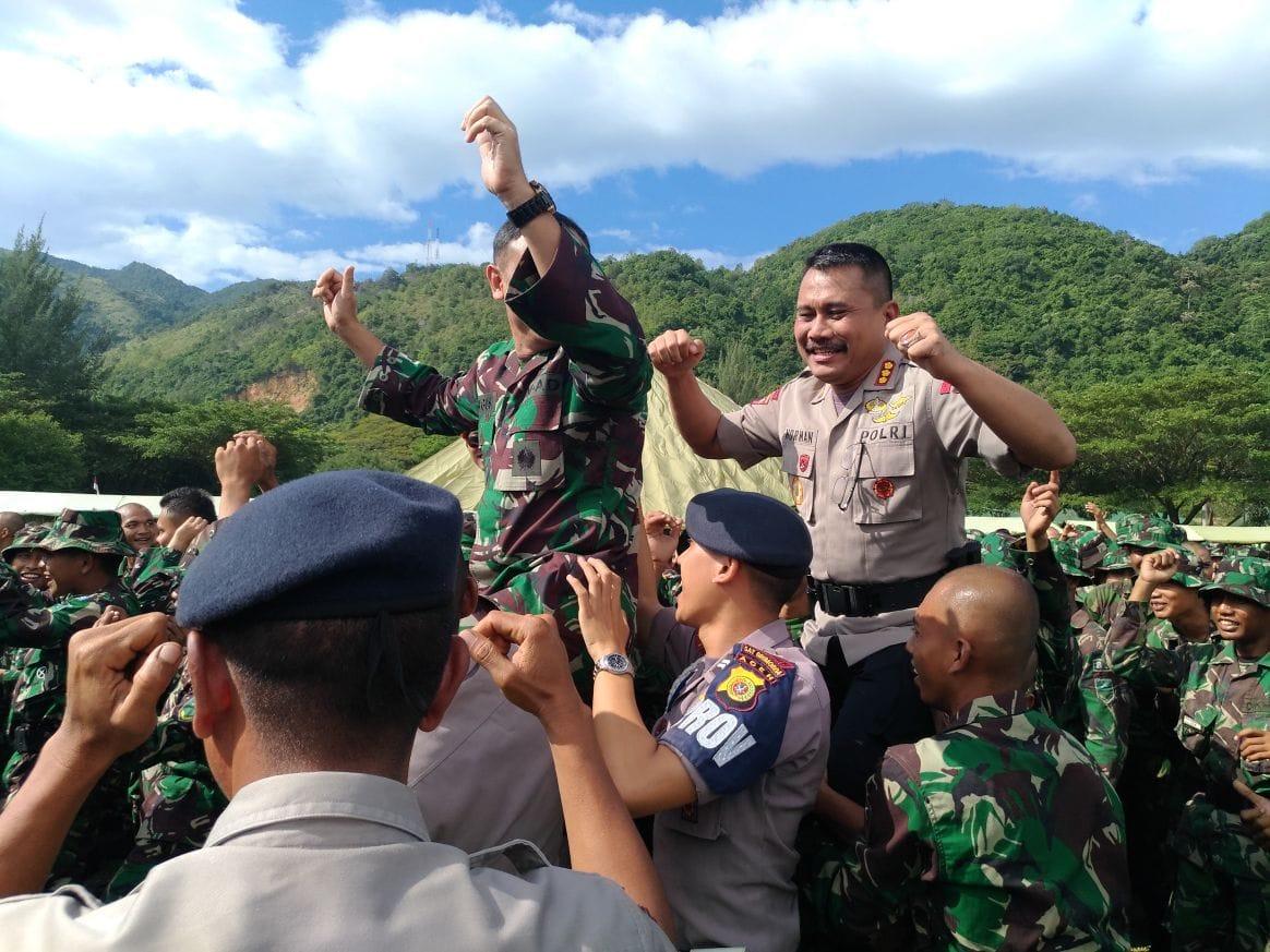 Soliditas TNI-Polri Bersama Basarnas dan FKPPI Terlihat di HUT Infanteri 2017