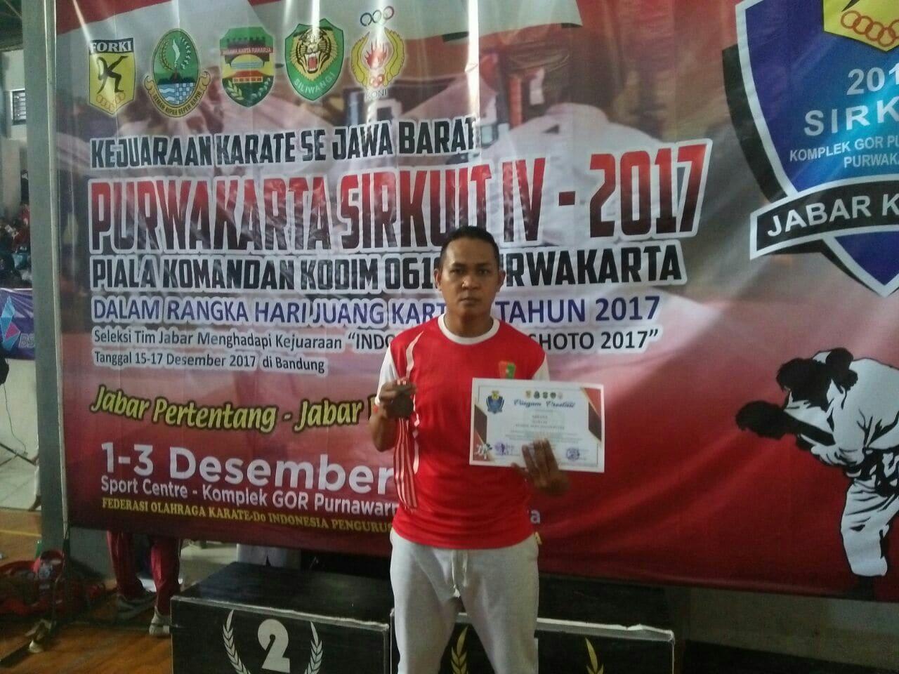 Prajurit Divif 1 Kostrad Torehkan Prestasi Pada Kejuaraan Karate Se-Jabar