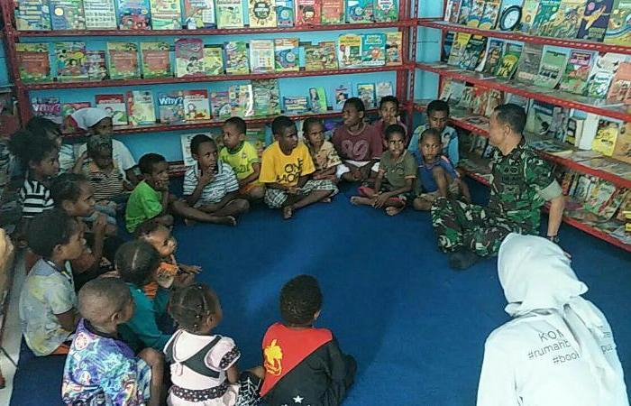 Kodim Jayawijaya Motivasi Anak Putus Sekolah di Rumah Belajar Wamena