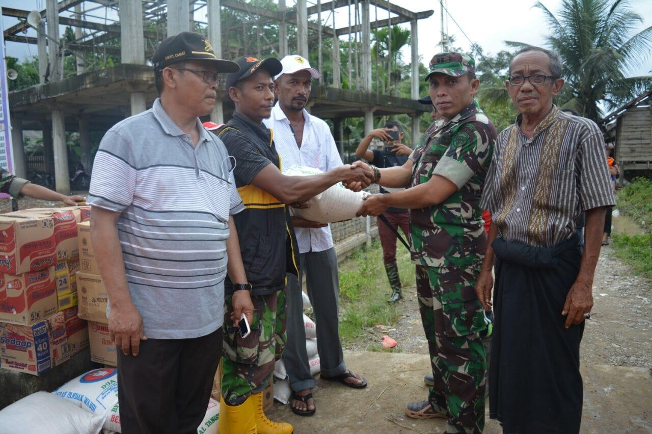 Kodim Aceh Utara Bantu Korban Banjir