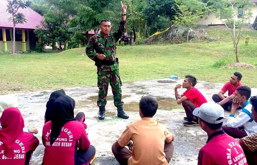 Babinsa Ajak Generasi Muda Bangsa di Aceh Untuk Jauhi Narkoba