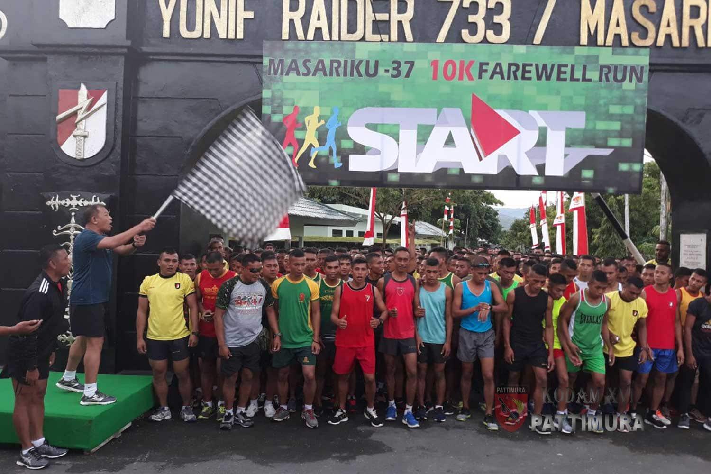 Yonif Raider 733/ Masariku Gelar Farewell Run