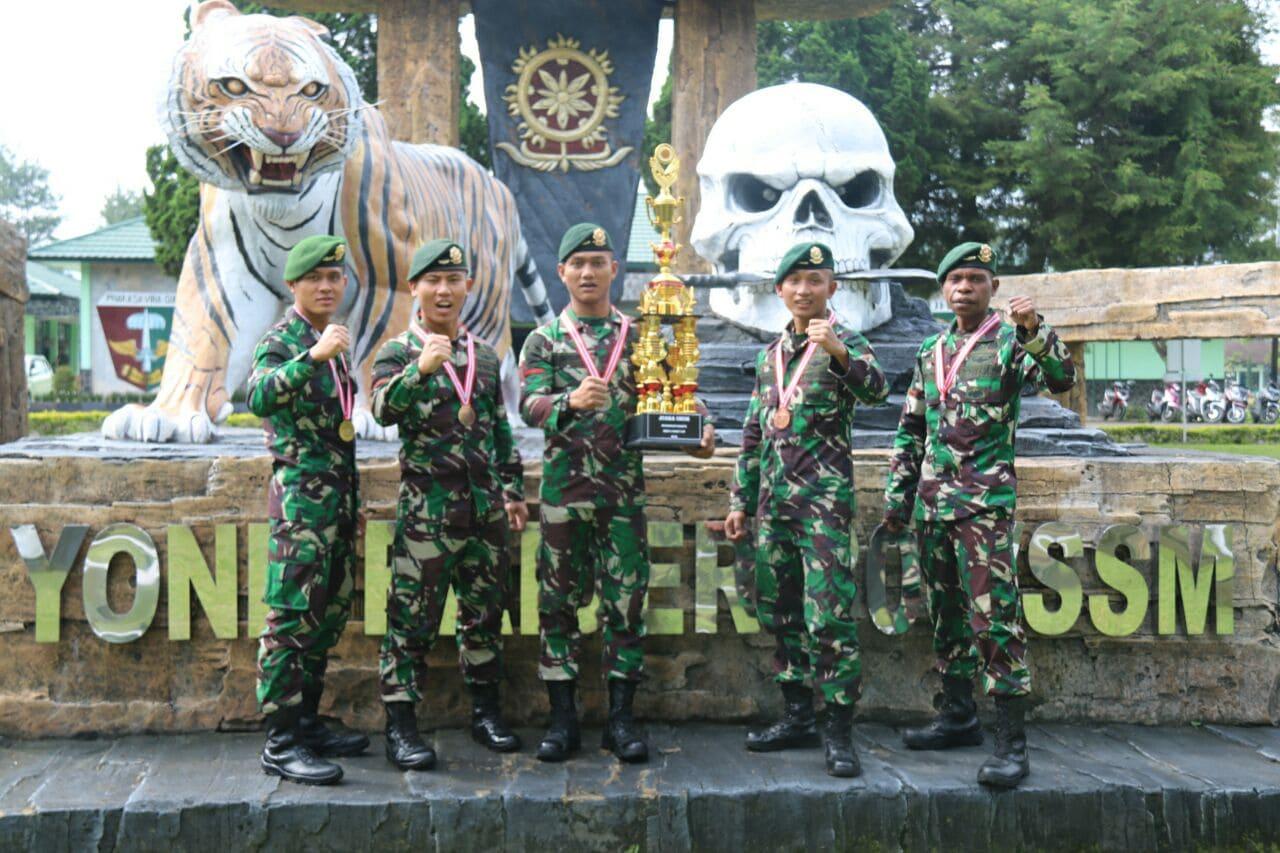 Yonif Raider 303 Kostrad Sapu Bersih Kejuaraan Karate di Garut