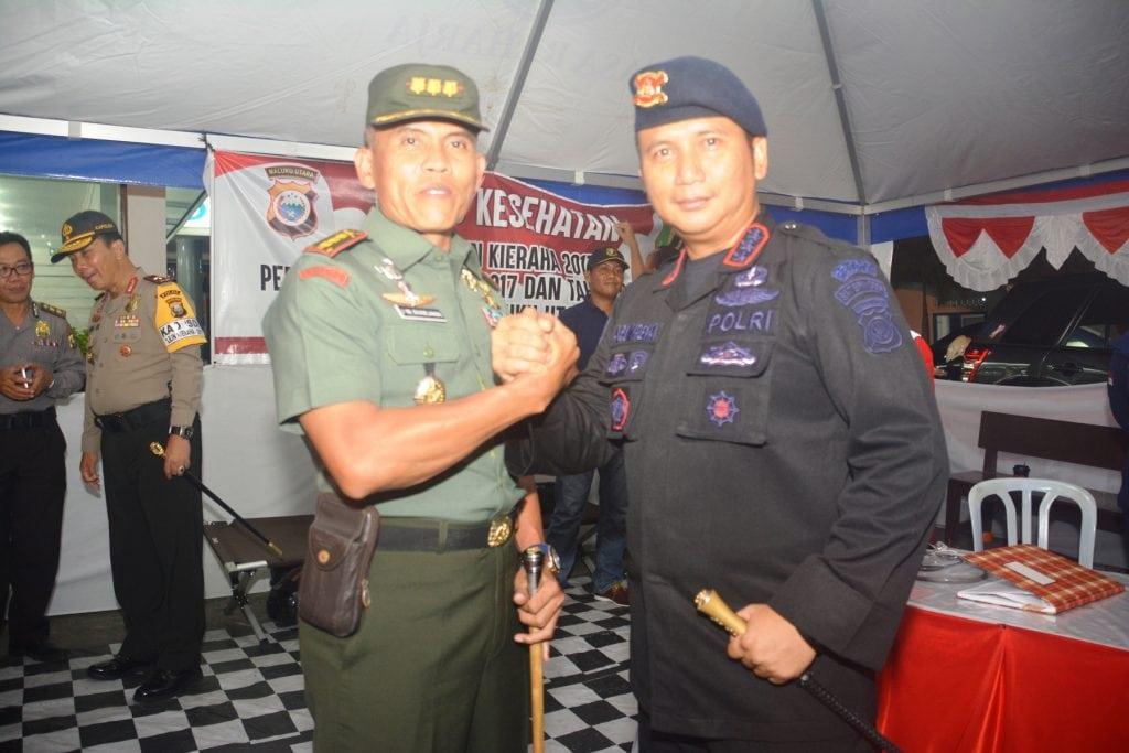 Jelang Malam Pergantian Tahun, Danrem 152 Bersama Kapolda Malut Cek Situasi Keamanan