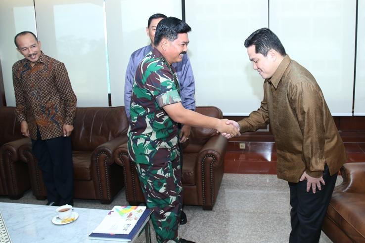 Panglima TNI Terima Ketua Pelaksana Asian Games XVII Tahun 2018.