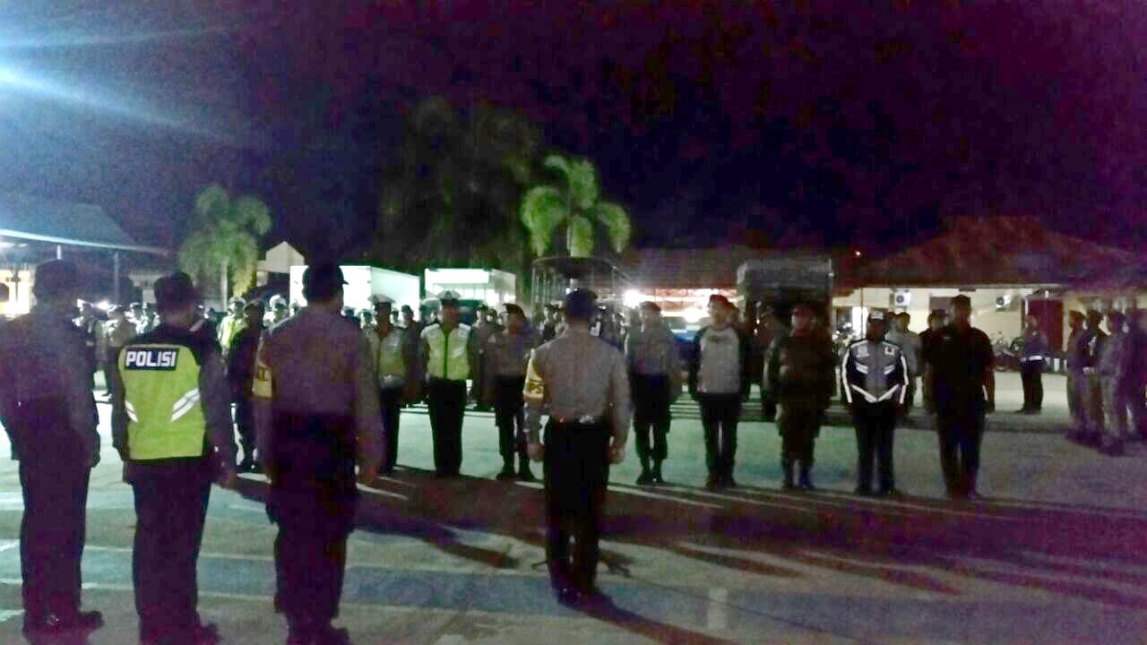 Amankan Malam Tahun Baru, TNI dan Polri di Sangatta Gelar Apel Gabungan