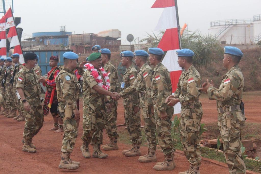 Asops Kasad Kunjungi Pasukan Garuda Konga XXXVII-D di Afrika