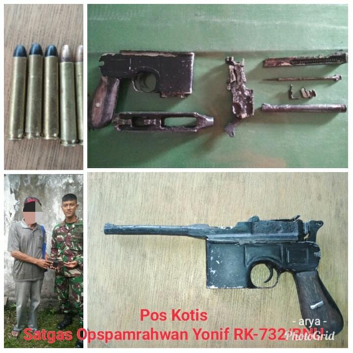 Prajurit TNI Berhasil Amankan 1 Pucuk Senjata Ilegal