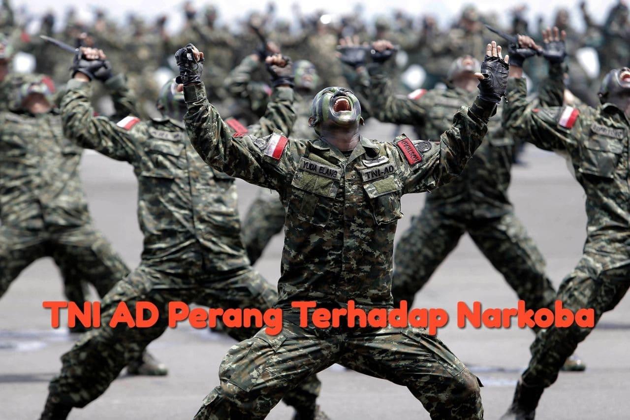 TNI AD Terus Pukul Genderang Perang Terhadap Narkoba