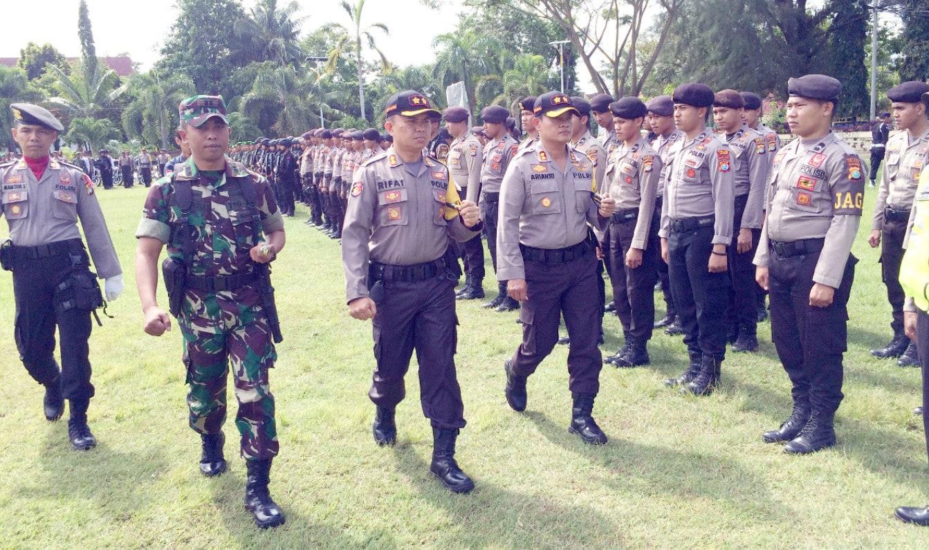 TNI-Polri Apel Bersama Pengamanan Pilkada Sulbar