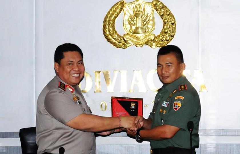 Pangdam-Kapolda Silaturahmi Jalin Sinergitas