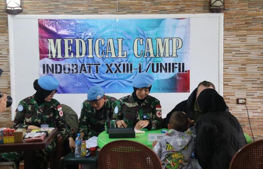 Satgas Indobatt TNI Peduli Kesehatan Warga di Lebanon