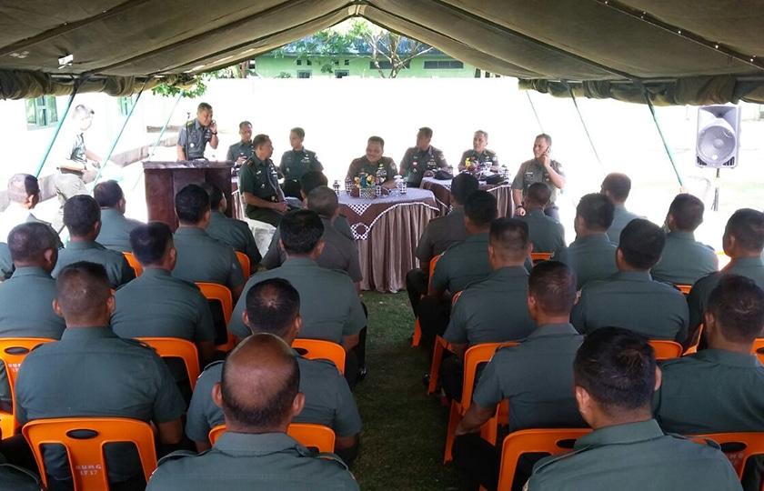 Terima Senjata Sisa Konflik, Pangdam Apresiasi Prajurit Kodim Aceh Jaya