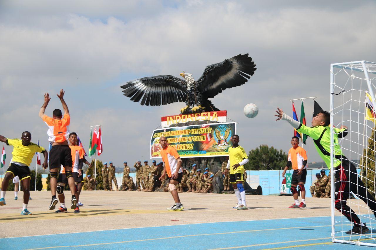 Indobatt Raih Juara ketiga Turnamen Bola Tangan Antar Kontingen Di Lebanon