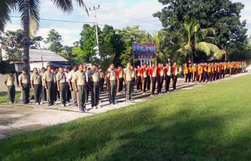 Pererat Sinergitas, TNI-Polri Gelar Olahraga Bersama