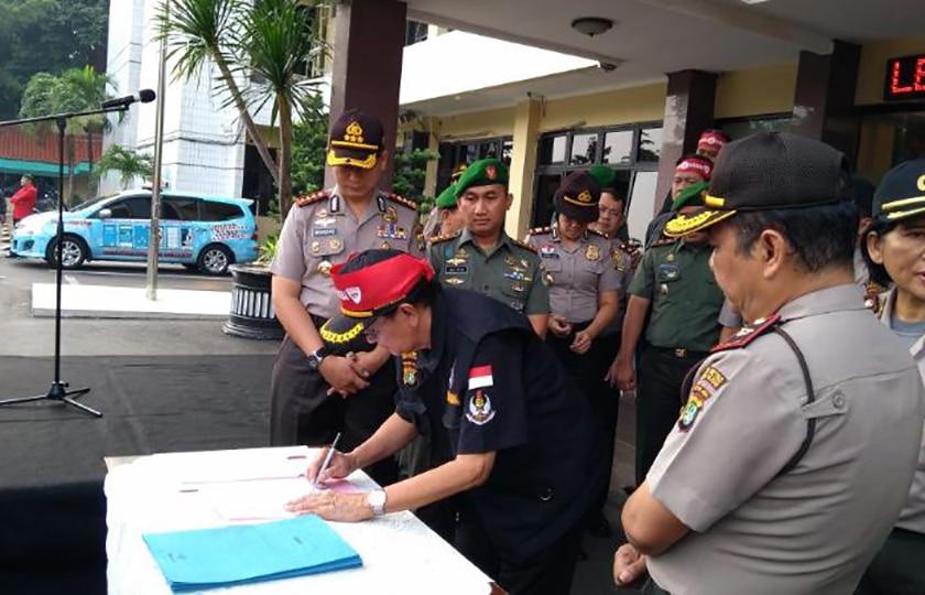 Kodim dan Polres Jaksel Deklarasikan Anti Narkoba