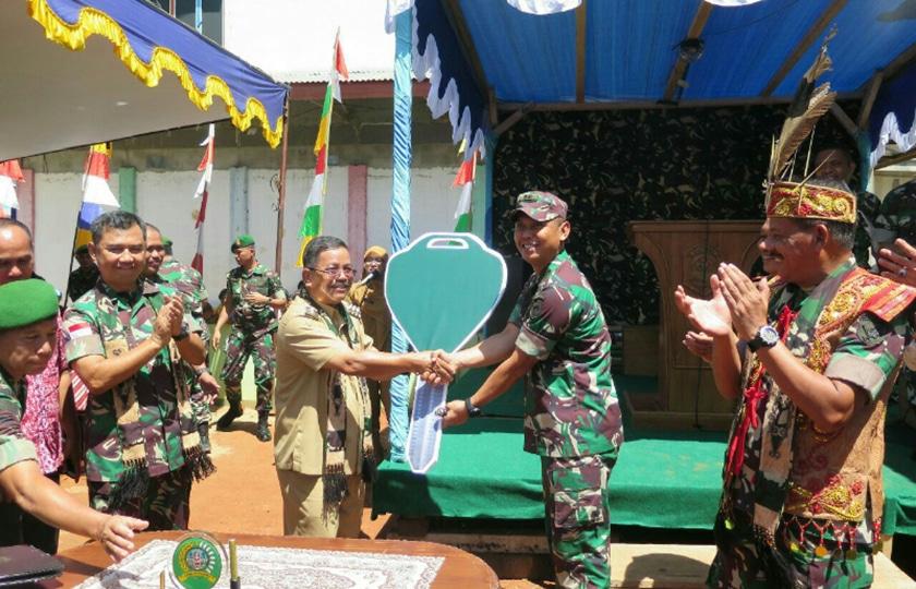 Pangdam XII/Tanjungpura Resmikan Koramil Nanga Mahap