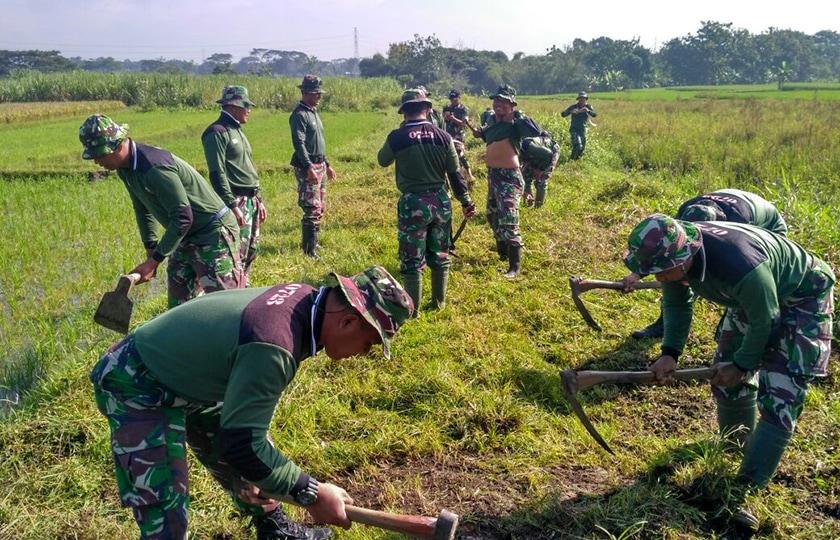 Pra TMMD 2018, Kodim 0723/Klaten Gelar Pembersihan Jalan Desa