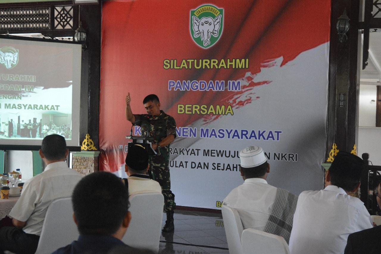Pangdam IM: TNI Merupakan Penyejuk dan Pelindung Masyarakat